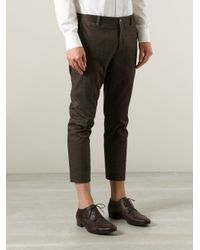 Milano Parigi - Gray Cropped Printed Trouser for Men - Lyst