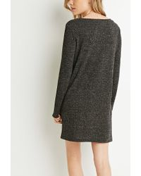 Forever 21 - Gray Ribbed Sweater Dress - Lyst