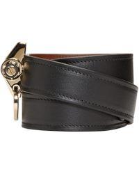 Givenchy | Black Leather Obsedia Bracelet | Lyst