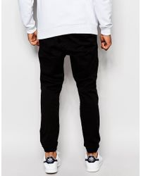 Jack & Jones | Black Woven Joggers for Men | Lyst