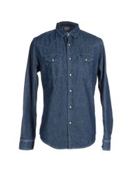 Edwin | Blue Denim Shirt for Men | Lyst