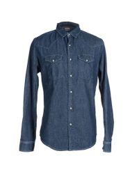 Edwin - Blue Denim Shirt for Men - Lyst