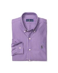 Polo Ralph Lauren | Purple Striped Cotton Interlock Shirt for Men | Lyst