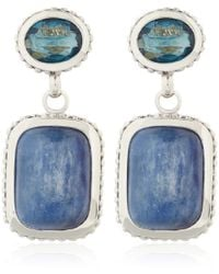 Stephen Dweck | Silver Blue Topaz Kyanite Drop Earrings | Lyst