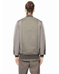 Silent - Damir Doma - Natural Nylon & Light Gabardine Bomber Jacket for Men - Lyst