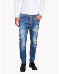 DSquared² | Blue Tidy Biker Jeans for Men | Lyst