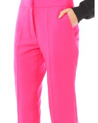 Sophie Hulme - Pink Tailored Wool Trousers - Lyst