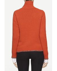 Rag & Bone Orange Sarah Turtleneck