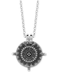 Lucky Brand | Metallic Silver-tone Medallion Pendant Long Necklace | Lyst