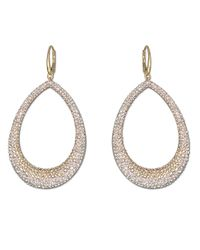 Swarovski | Metallic Abstract Goldtone And Crystal Drop Pendant Earrings | Lyst