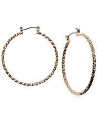 Jones New York | Metallic Medium Hammered Hoop Earrings | Lyst