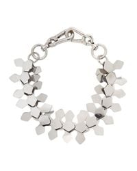 Moxham | Metallic Kline Silver Tone Laser-cut Necklace | Lyst