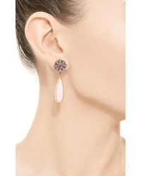 Arman Sarkisyan | Pink Opal and Tourmaline Flower Drop Earrings | Lyst