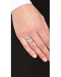 Vita Fede - Metallic Triple Chain Crystal Titan Ring - Lyst