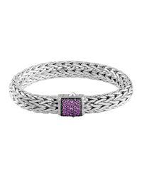 John Hardy - Metallic Classic Chain 11Mm Large Braided Silver Bracelet - Lyst