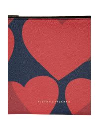 Victoria Beckham - Multicolor Large Simple Hearts Pouch - Lyst