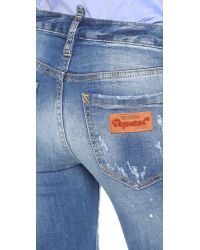 DSquared² | Blue Medium Waist Twiggy Jeans | Lyst