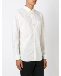 DIESEL - White Patch Pocket Shirt for Men - Lyst