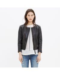 Madewell - Black Metropolis Leather Jacket - Lyst