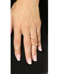 Bijules - Metallic Knuckle Ring - Gold/clear - Lyst