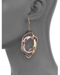 Delfina Delettrez - Metallic Tourbillion Fourcircle Drop Earrings - Lyst
