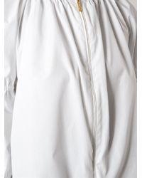 KENZO - White Puff Sleeve Blouse - Lyst