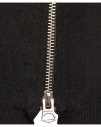 Acne Studios - Black Misty Compact Knit Zip Sweatshirt - Lyst