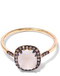 Suzanne Kalan - Metallic Gold Cushion Moonstone Diamond Ring - Lyst
