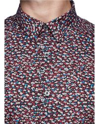 PS by Paul Smith - Multicolor Abstract Print Poplin Shirt for Men - Lyst