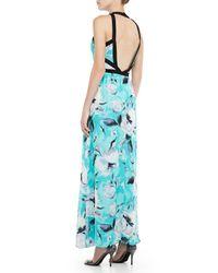 Parker | Blue Sina Printed Vneck Maxi Dress | Lyst