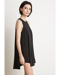 Forever 21 | Black Curved-hem Trapeze Dress | Lyst