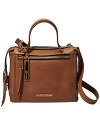 Fossil | Brown Bella Leather Small Satchel | Lyst