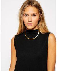 Pilgrim | Metallic Choker Necklace | Lyst