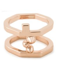 Eddie Borgo | Metallic Double Layered Ring | Lyst