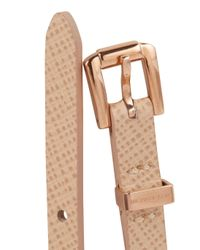 Michael Kors - Pink Studded Leather Bracelet - Lyst