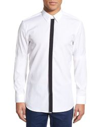 HUGO - White Boss 'endrios' Slim Fit Long Sleeve Sport Shirt for Men - Lyst