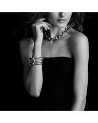 David Yurman - Metallic Cable Classics Bracelet With Black Onyx - Lyst