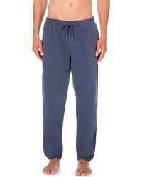 Derek Rose | Blue Devon Sli-fit Cotton-jersey Jogging Bottoms for Men | Lyst