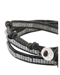 Colana | Black Wrap Around Leather Bracelet | Lyst