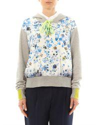 Preen By Thornton Bregazzi | Blue Forget Me Not Hooded Sweatshirt | Lyst