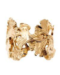 Aurelie Bidermann - Metallic Ginkgo Ring - Lyst