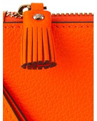 Anya Hindmarch - Orange Smiley Leather Wristlet Pouch - Lyst