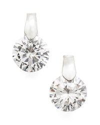 Anne Klein Metallic Cubic Zirconia Stud Earrings