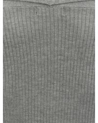 Jane Norman | Gray Black Edge Ribbed Cardigan | Lyst