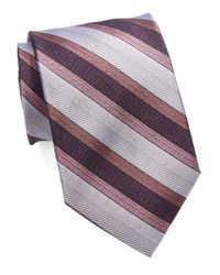 Calvin Klein | Pink Multi-striped Tie for Men | Lyst