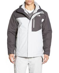 The North Face | Gray 'carto' Triclimate Waterproof 3-in-1 Jacket for Men | Lyst