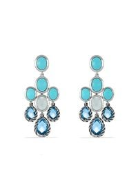 David Yurman | Blue Chandelier Earrings | Lyst