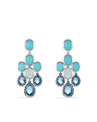 David Yurman - Blue Chandelier Earrings - Lyst
