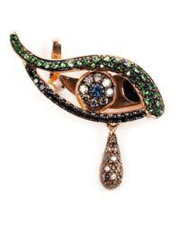 Ileana Makri | Metallic 18kt Rose Gold 'angry Eye' Earring | Lyst