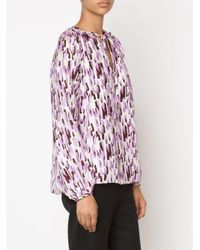 Piamita - Purple Eva Peasant Blouse - Lyst